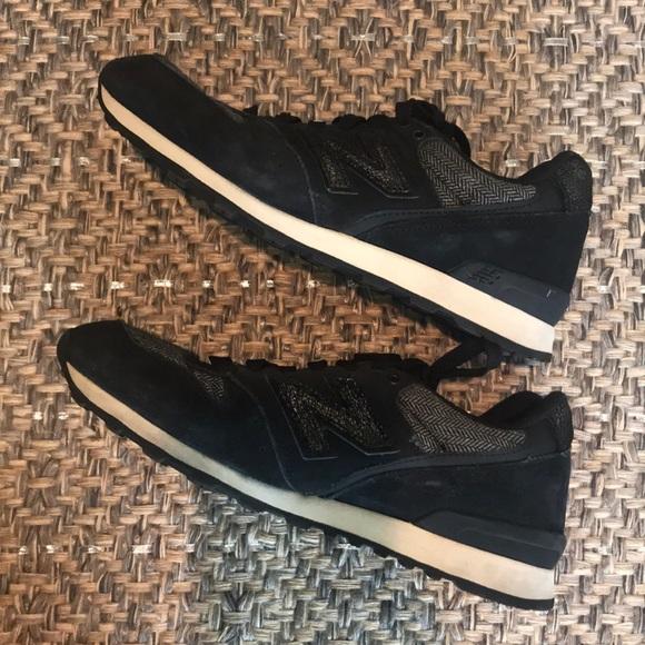 Black Metallic N Sneakers W Tweed